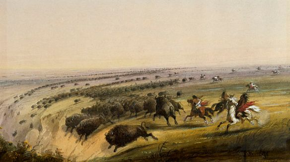 Alfred Jacob Miller - Hunting Buffalo
