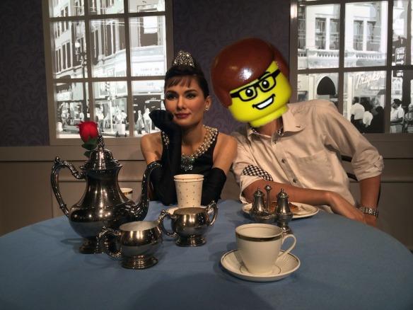 跟柯德莉·夏萍共晉下午茶